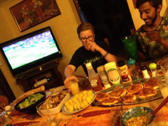 Amazing feast at the Medjoubi family! This week we prepare for the Euros together!