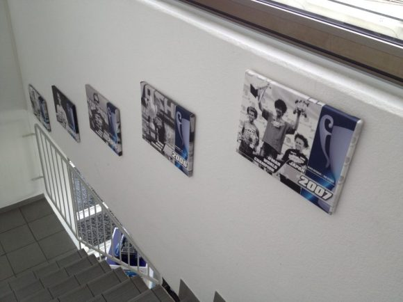 All the LRP World Championships were listed impressively with plaques in the stairway of the office building.