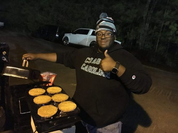 "We got ""Chef"" working the grill, mmm mmm!"